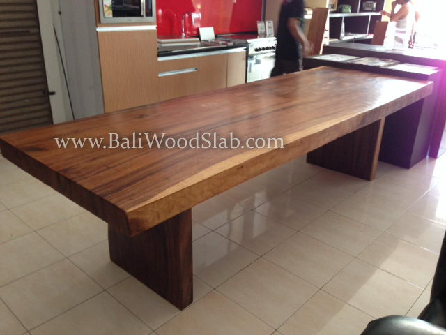 Table 300 100 cm straight bali wood slab for Table 300 cm
