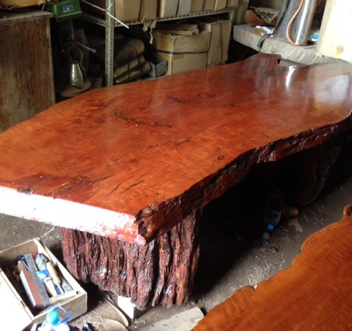 Dining Table Slab Lychee Wood Bali Wood Slab
