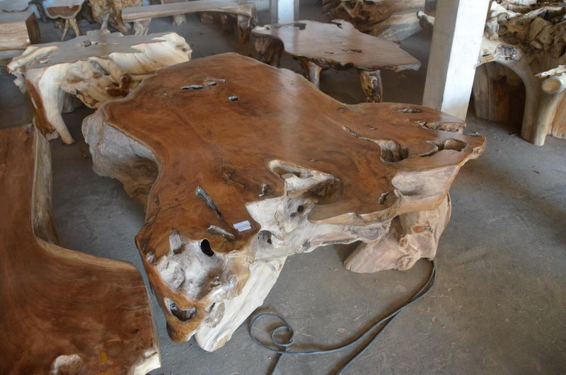 Exotic Coffee Table Teak Root Bali Wood Slab