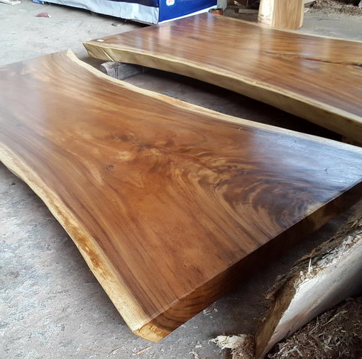 Suar Wood Wide Table 200 Cm 1 Bali Wood Slab