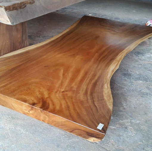 Suar Wood Wide Table 200 Cm 2 Bali Wood Slab