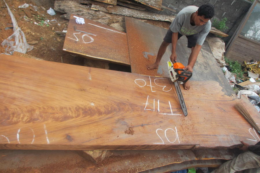 Straight Table And Others Table In Production Bali Wood Slab