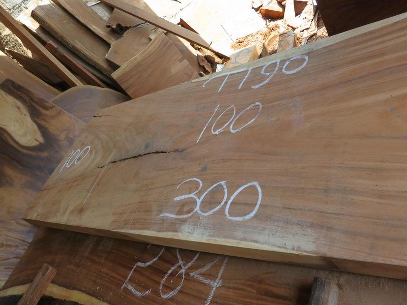 special promo table 300 cm t190 bali wood slab. Black Bedroom Furniture Sets. Home Design Ideas