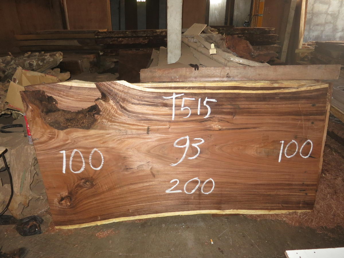 Table 200 Cm T515 Bali Wood Slab
