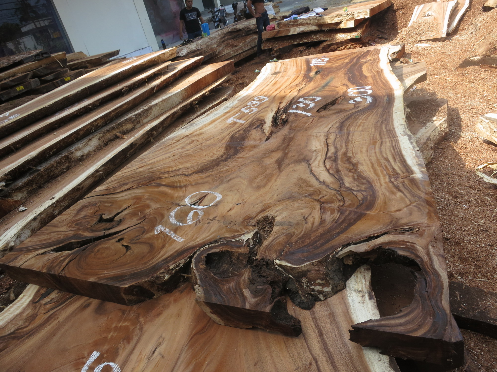 Special promo table 300 cm t599 bali wood slab for Table 300 cm