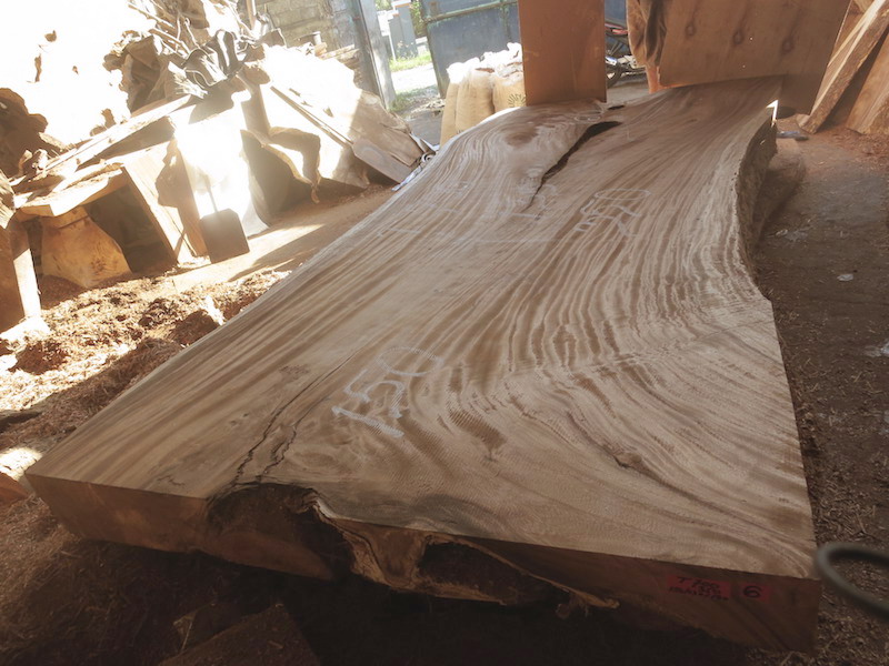 Special Promo Table 350 Cm T700 Bali Wood Slab