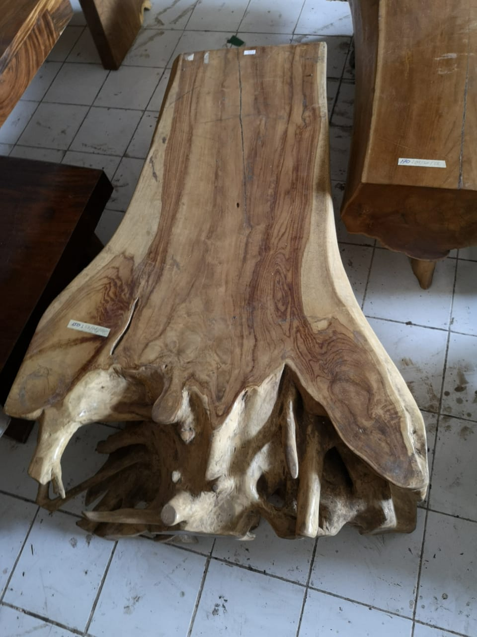 Coffee Table Teak Wood D02 Bali Wood Slab